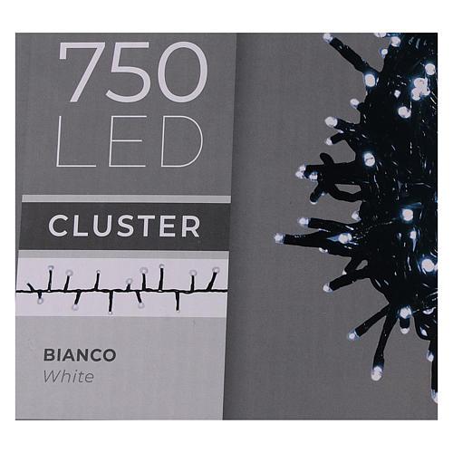 Catena luce Natale verde 750 led bianco freddo 220V esterno controller 5