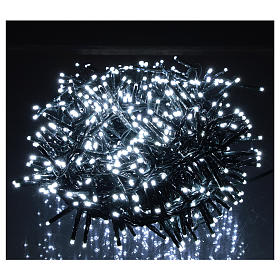 Christmas lights 750 LEDs cold white with control device s2