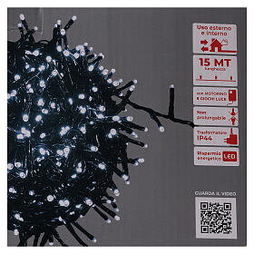 Christmas lights 750 LEDs cold white with control device s6