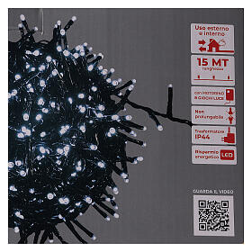 Christmas lights 750 LEDs cold white with control device s5
