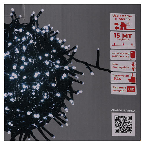 Christmas lights 750 LEDs cold white with control device 6