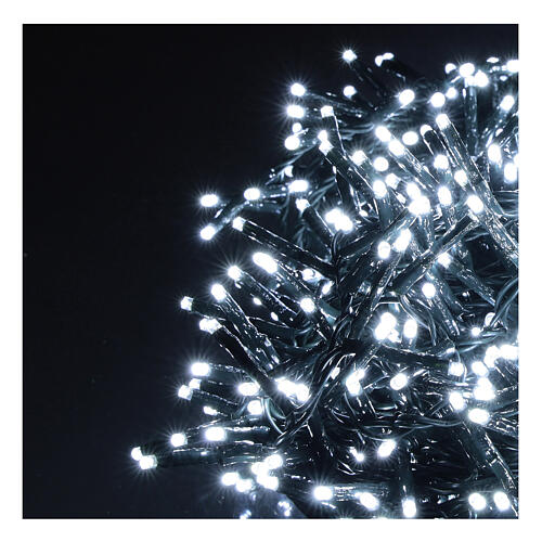 Christmas lights 750 LEDs cold white with control device 2