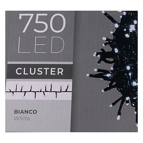 Christmas lights 750 LEDs cold white with control device 4