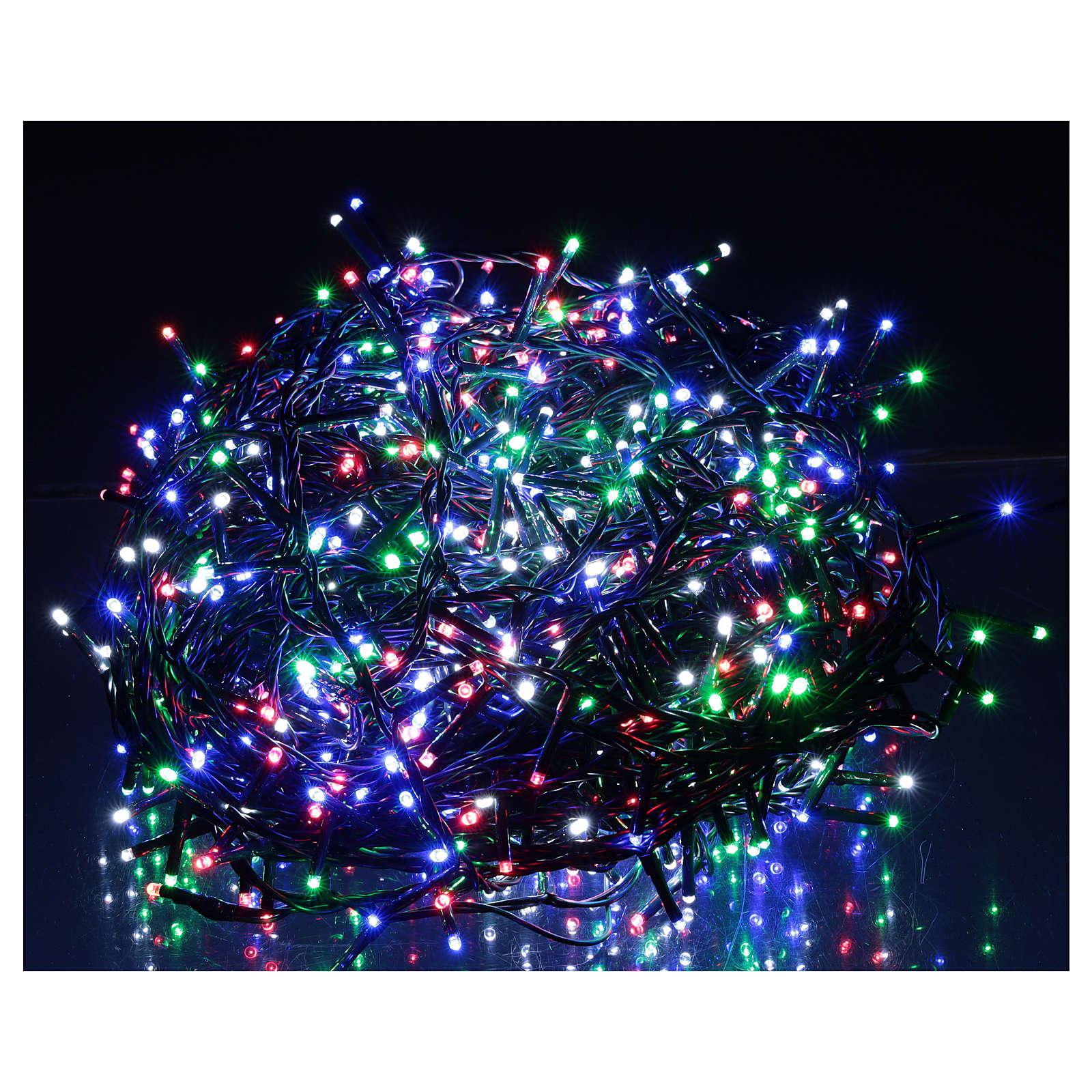 Cadena luminosa Navidad verde 1000 led multicolor control remoto exterior 220V 3