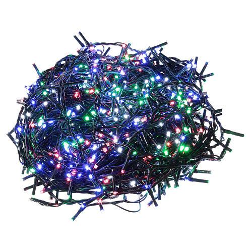 Cadena luminosa Navidad verde 1000 led multicolor control remoto exterior 220V 1