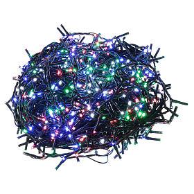 Catena luminosa Natale verde 1000 led multicolore telecomando esterno 220V s1