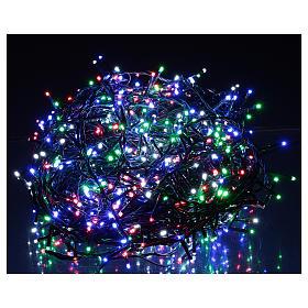 Catena luminosa Natale verde 1000 led multicolore telecomando esterno 220V s2