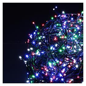 Catena luminosa Natale verde 1000 led multicolore telecomando esterno 220V s3