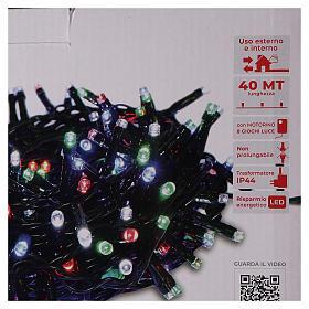 Catena luminosa Natale verde 1000 led multicolore telecomando esterno 220V s5