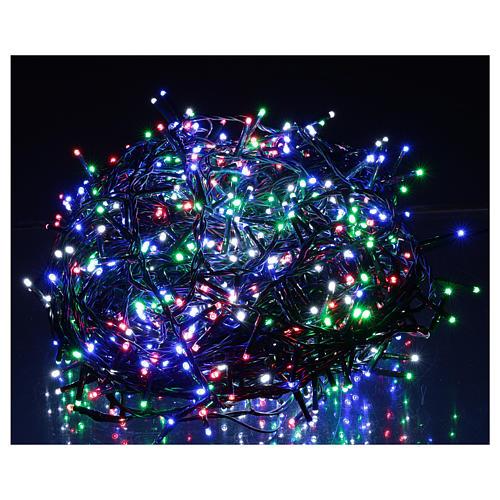 Catena luminosa Natale verde 1000 led multicolore telecomando esterno 220V 2