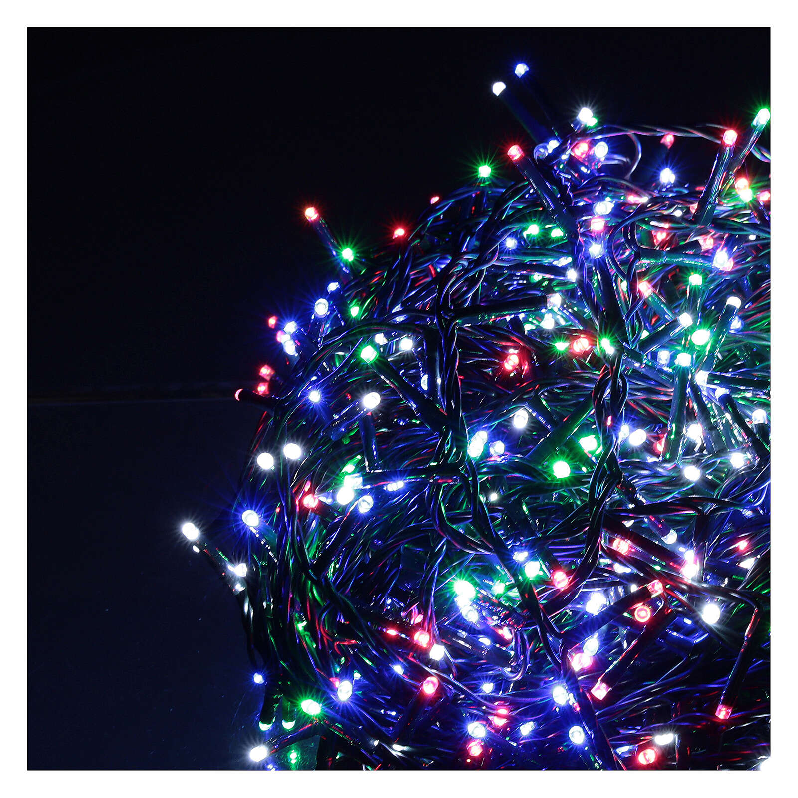Christmas lights bright 1000 LEDs multi-color remote control external 220V green cable 3