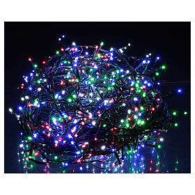 Christmas lights bright 1000 LEDs multi-color remote control external 220V green cable s1