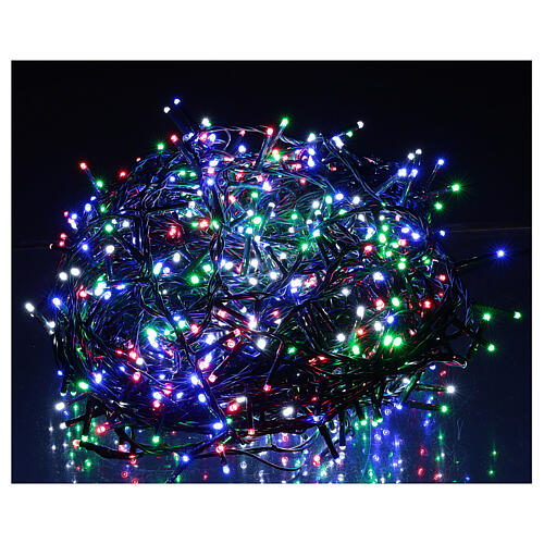 Christmas lights bright 1000 LEDs multi-color remote control external 220V green cable 1