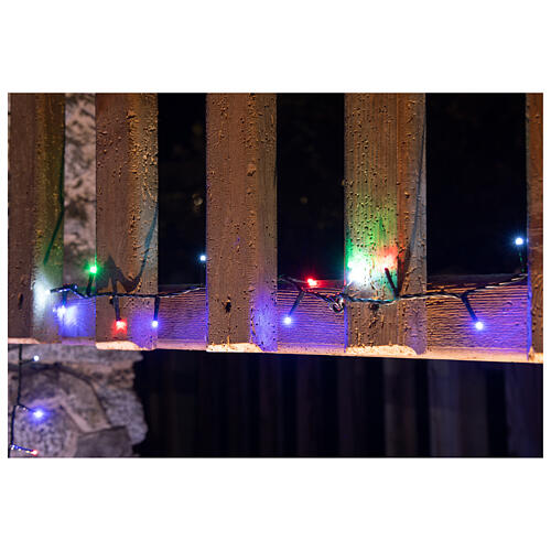 Christmas lights bright 1000 LEDs multi-color remote control external 220V green cable 6