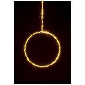Anillo luminoso navideño gotas led blanco cálido d. 30 cm interior 220V s2
