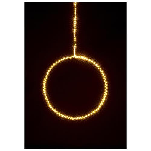Anillo luminoso navideño gotas led blanco cálido d. 30 cm interior 220V 2