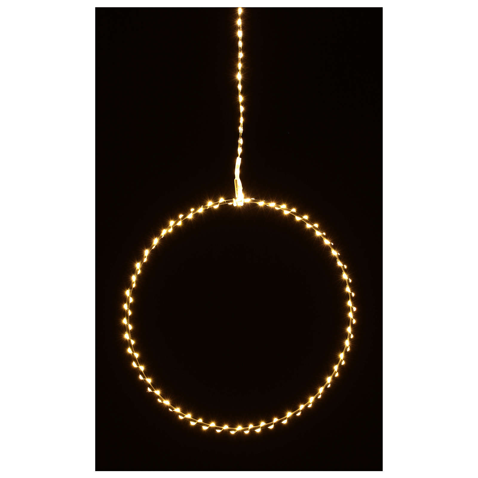 Anello luminoso natalizia gocce led bianco caldo d. 30 cm interni 220V 3