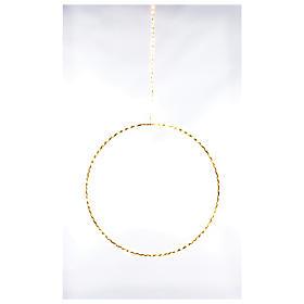 Anello luminoso natalizia gocce led bianco caldo d. 30 cm interni 220V s1
