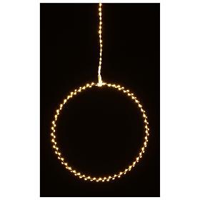 Anello luminoso natalizia gocce led bianco caldo d. 30 cm interni 220V s7