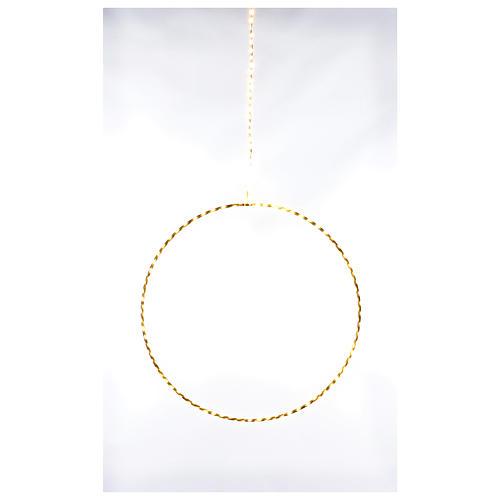 Anello luminoso natalizia gocce led bianco caldo d. 30 cm interni 220V 1
