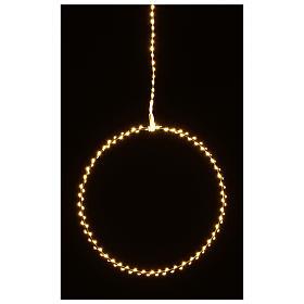 Anillo luminoso navideño gotas led blanco cálido d. 40 cm interior 220V s7