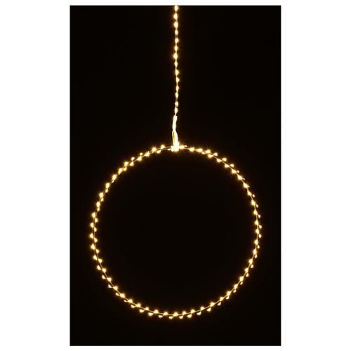 Anillo luminoso navideño gotas led blanco cálido d. 40 cm interior 220V 7