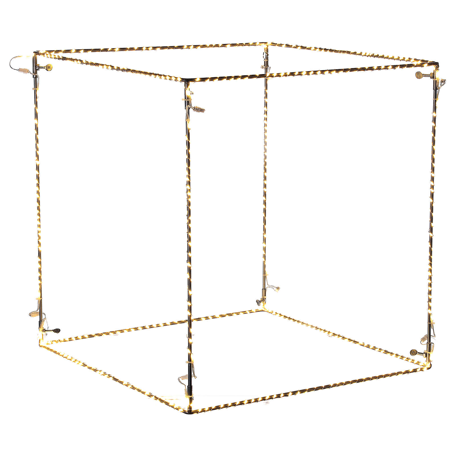 Cubo luminoso 60 cm con 880 gota led blanco cálido interior corriente 3