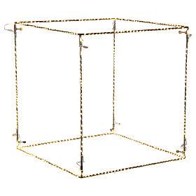 Cubo luminoso 60 cm con 880 gota led blanco cálido interior corriente s4