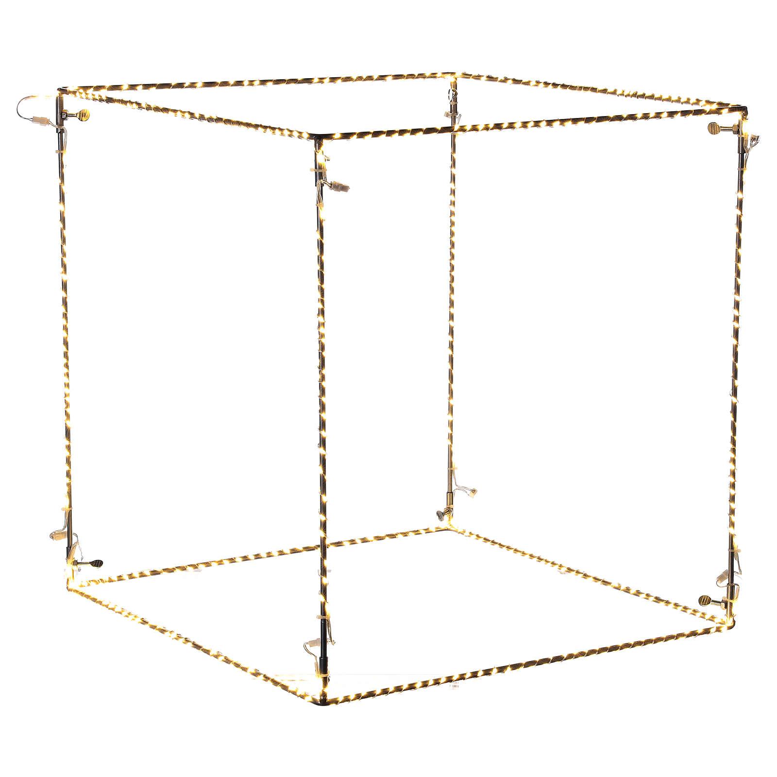 Christmas light cube 50 cm, 740 LED lights, warm white, indoor use 3