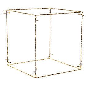 Christmas light cube 50 cm, 740 LED lights, warm white, indoor use s1