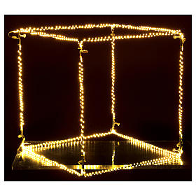 Christmas light cube 50 cm, 740 LED lights, warm white, indoor use s4