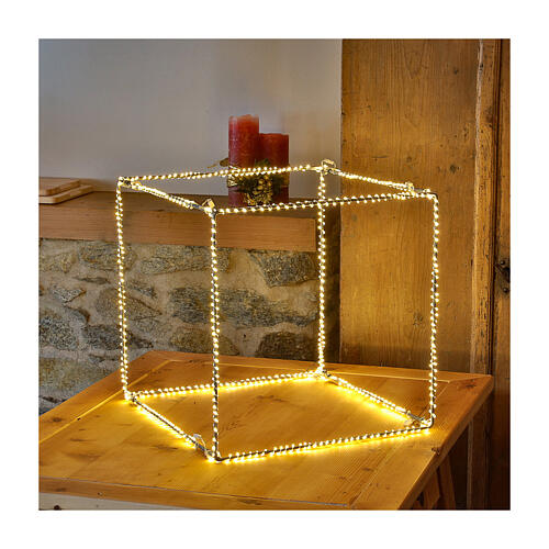 Christmas light cube 50 cm, 740 LED lights, warm white, indoor use 1