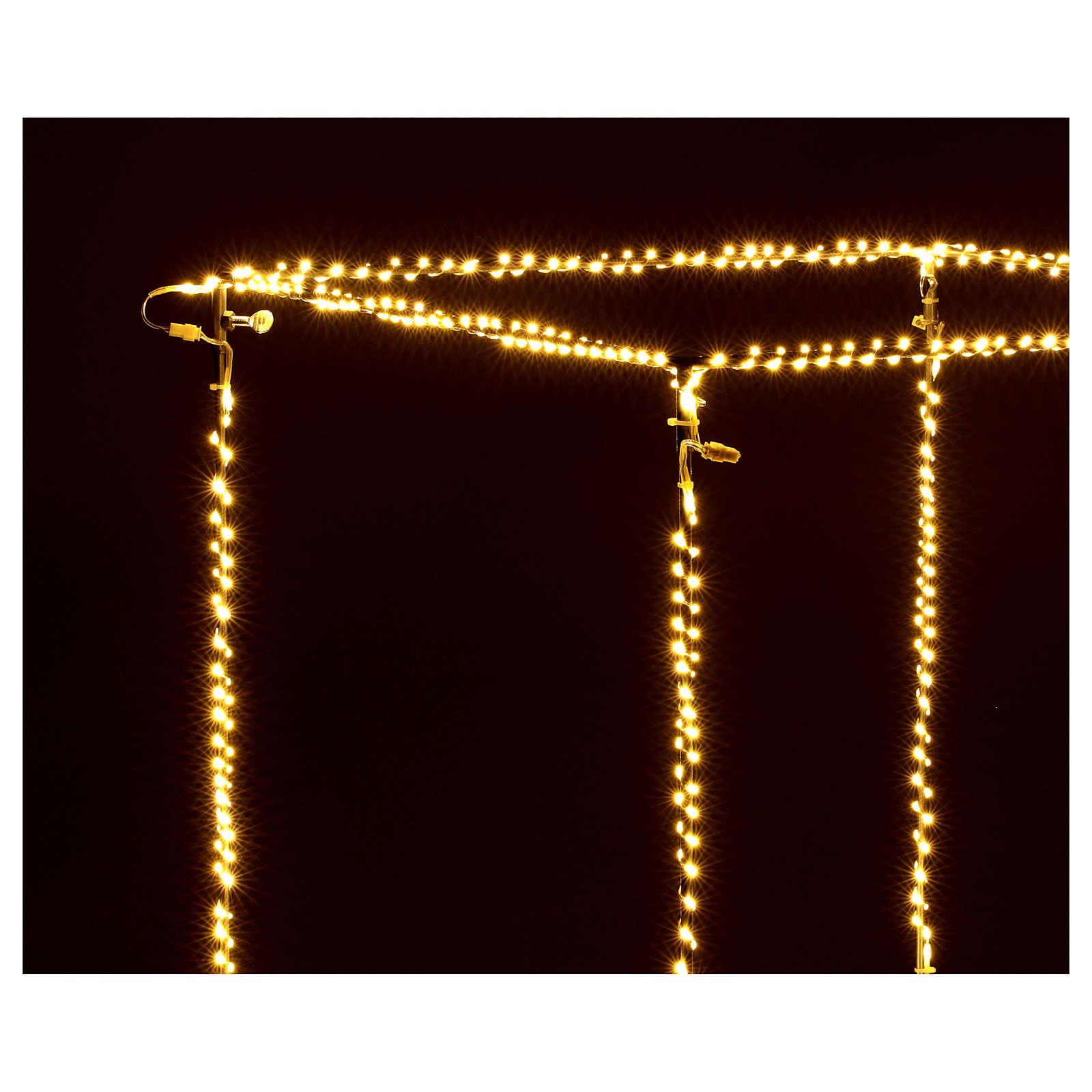 Cubo luminoso navideño 50 cm con 740 led blanco cálido interior corriente 3