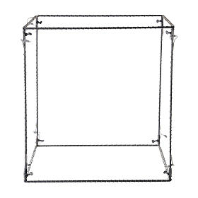 Cubo luminoso navideño 50 cm con 740 led blanco cálido interior corriente s5