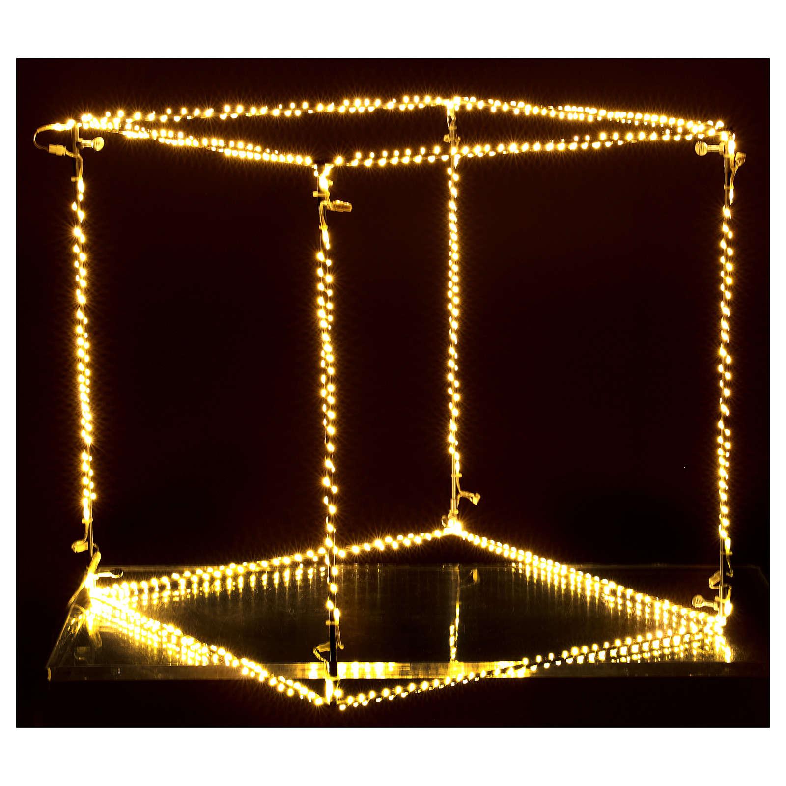 Cubo luminoso natalizio 50 cm con 740 led bianco caldo interno corrente 3