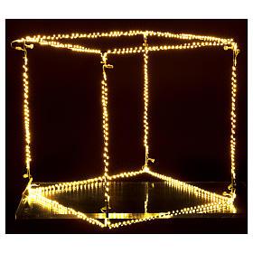 Cubo luminoso natalizio 50 cm con 740 led bianco caldo interno corrente s4