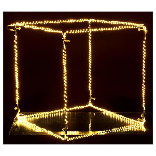 Cubo luminoso natalizio 50 cm con 740 led bianco caldo interno corrente 4