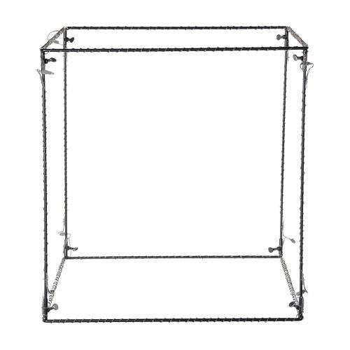 Cubo luminoso natalizio 50 cm con 740 led bianco caldo interno corrente 5