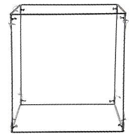 Cubo luminoso navideño 40 cm con 720 led blanco cálido interior corriente s4