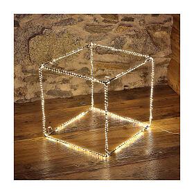 Cubo luminoso navideño 40 cm con 720 led blanco cálido interior corriente s1