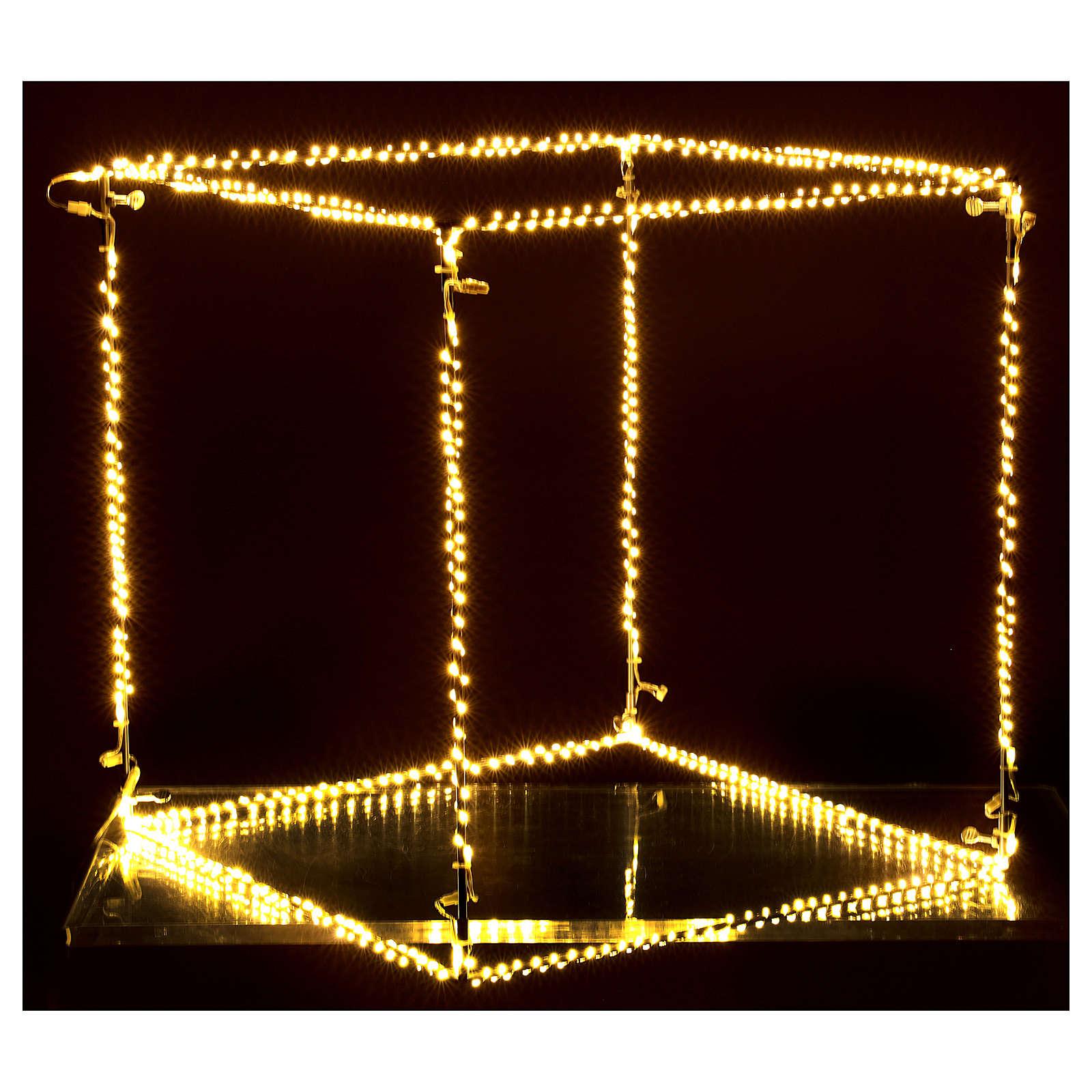Cubo luminoso natalizio 40 cm con 720 led bianco caldo interno corrente 3