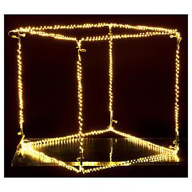 Cubo luminoso natalizio 40 cm con 720 led bianco caldo interno corrente s2