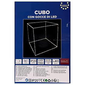Cubo luminoso natalizio 40 cm con 720 led bianco caldo interno corrente s6