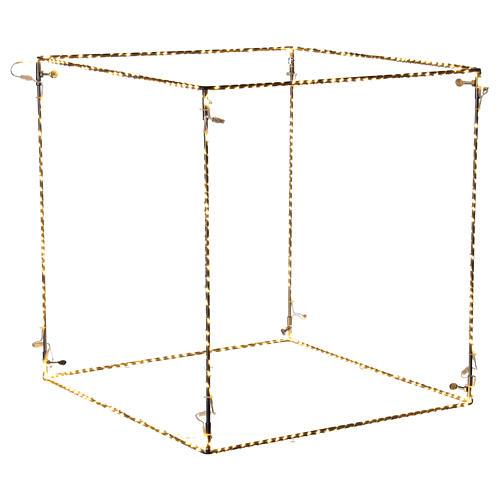 Cubo luminoso natalizio 40 cm con 720 led bianco caldo interno corrente 1