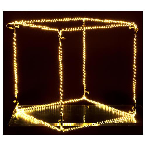 Cubo luminoso natalizio 40 cm con 720 led bianco caldo interno corrente 2