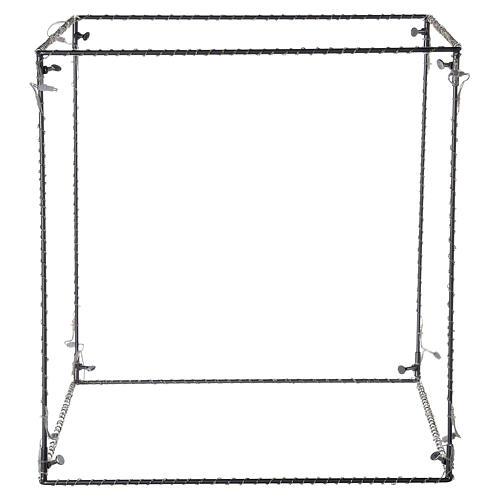 Cubo luminoso natalizio 40 cm con 720 led bianco caldo interno corrente 4