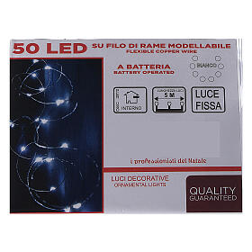 Christmas lights, 5 m, 50 LED drop lights, icy white, indoor use s4
