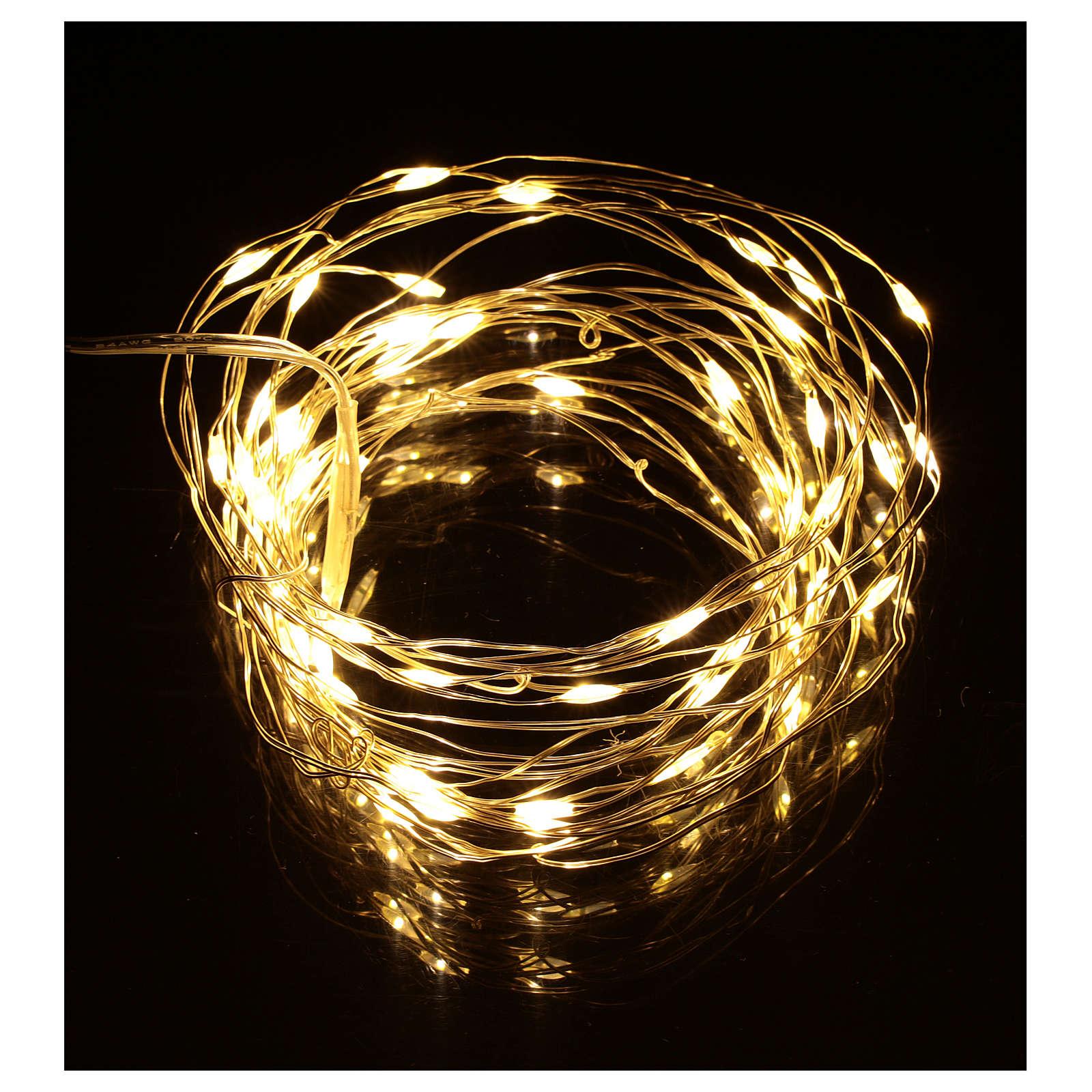 Christmas lights, 5 m, 50 LED drop lights, warm white, indoor use 3