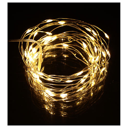 Christmas lights, 5 m, 50 LED drop lights, warm white, indoor use 2