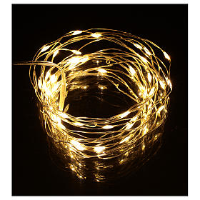 Fairy lights 5 m battery operated 50 warm white LEDs indoor s2